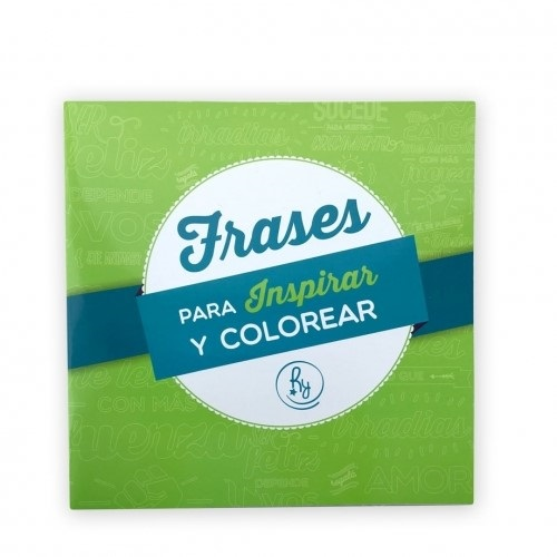 Cuadernos Acaballados Reysa Tapa Blanda 20 X 20 Frases Para Colorear C Stickers