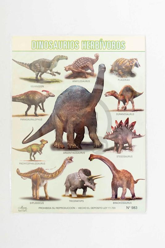 Laminas Escolar Maucci X 5 Nº 983 Dinosaurios Herbivoros En todos los grupos de animales aparecen especies herbívoras, y los dinosaurios no fueron la excepción. laminas escolar maucci x 5 nº 983 dinosaurios herbivoros