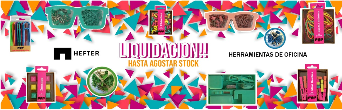 /liquidacion por renovacion de stock de marca hefter. LIQUIDACION