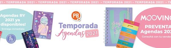Arranca la temporada 2021 de agendas. Ya están disponibles las agendas Ry y la preventa de agendas mooving 2021