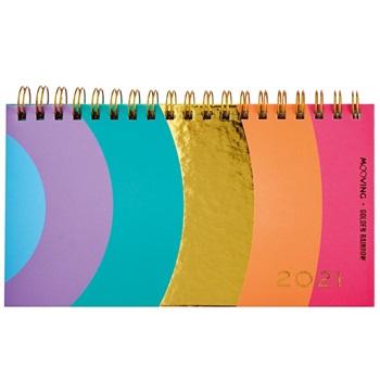 Agenda 2021 Mooving pocket espiral golden rainbow