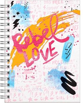 Cuaderno Reysa espiral 14 x 20 80 hs tapa dura cool love new