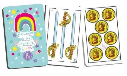 Set de cartas españolas + anotador puntaje en caja regalo