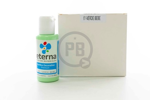 Acrílico decorativo Eterna 50 ml 061-verde bebe