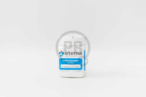 Acrílico decorativo Eterna 250 ml 01-blanco de titanio