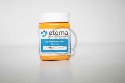 Acrílico decorativo Eterna 250 ml 14-amarillo dorado