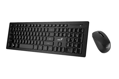 Combo Genius inalambrico teclado y mouse slimstar 8008 negro