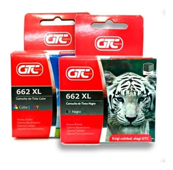 Cartucho GTC para Hp 662 xl color
