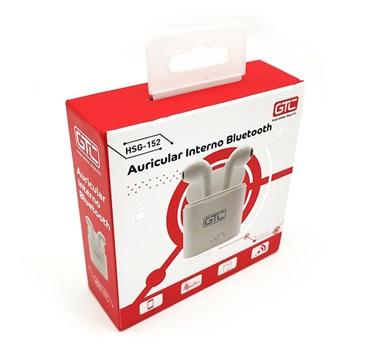 Auricular GTC interno bluetooth c/base de carga blanco hsg-152