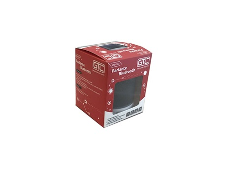 Parlante GTC bluetooth luces negro spg-103n