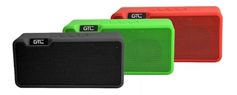 Parlante GTC bluetooth rojo aux spg-106cr