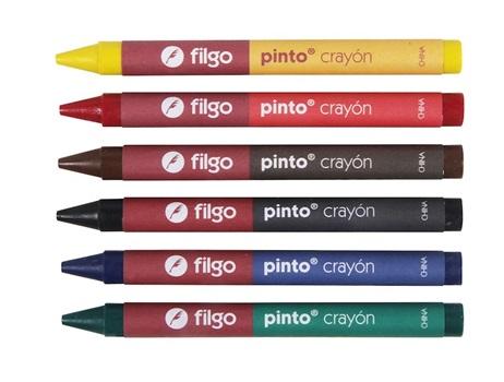 Crayones Filgo pinto x 6 cortos