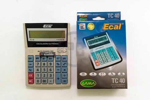 Calculadora Ecal tc40 12 digitos + 1 pila