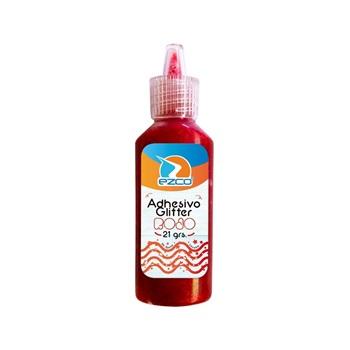 Adhesivo glitter Ezco 21 gramos rojo c/u