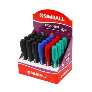 Marcador Simball grip 500 permanente exhibidor x 24