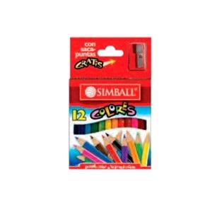 Lapices de colores Simball x 12 cortos innovation
