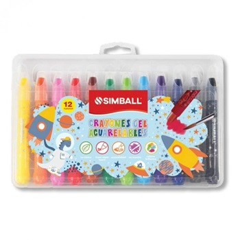 Crayones Simball gel acuarelables x 12