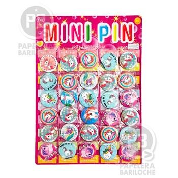 Pin unicornio 4,5 cm pack x 30