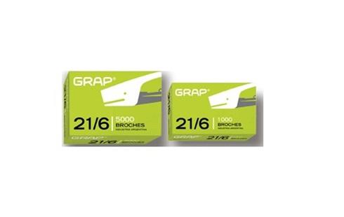 Broches Grap 21/6 x 5000 unidades