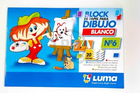 Block dibujo Luma blanco Nº 6 20 hs