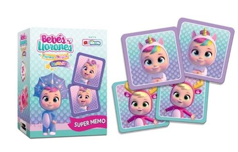 Juego de memoria Cry Babies 20 tarjetas grandes