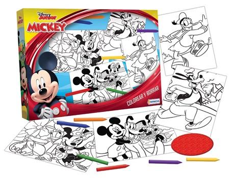 Set colorear y borrar 8 laminas Disney Mickey