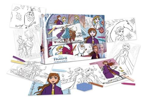 Set colorear y borrar 8 laminas Frozen 2