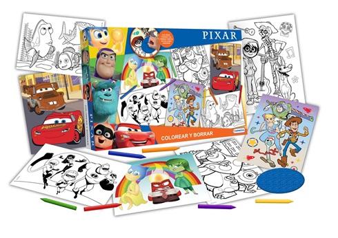 Set colorear y borrar 8 laminas Disney pixar