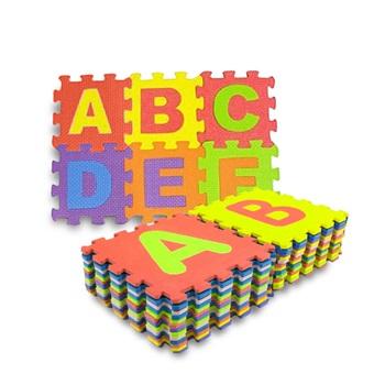 Piso goma eva 30 x 30cms alfabeto 27 piezas