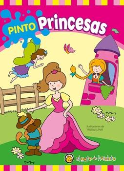Libro para pintar pinto color princesas