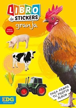 Libro de stickers animales espacio granja