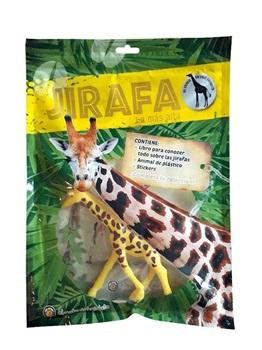 Libro de lectura mi animal salvaje favorito jirafa c/muñeco y stickers