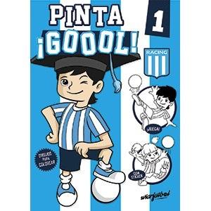 Libro para pintar Mawis pinta gol Racing club