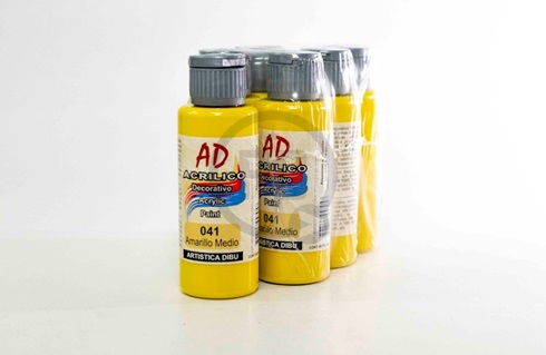 Acrílico decorativo Artística Dibu AD 60 ml 041-amarillo medio
