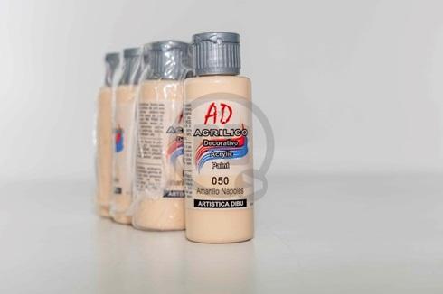 Acrílico decorativo Artística Dibu AD 60 ml 050-amarillo napoles