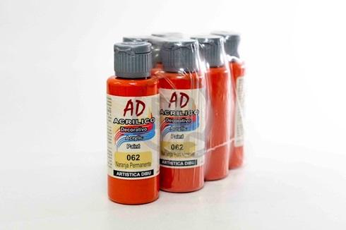 Acrílico decorativo Artística Dibu AD 60 ml 062-naranja permanente