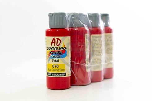 Acrílico decorativo Artística Dibu AD 60 ml 070-rojo cadmio claro