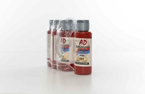 Acrílico decorativo Artística Dibu AD 60 ml 088-rojo oxido