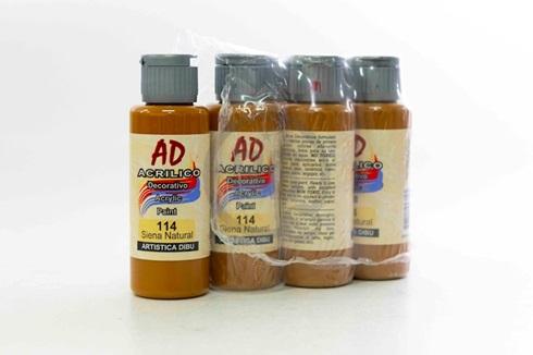 Acrílico decorativo Artística Dibu AD 60 ml 114-siena natural