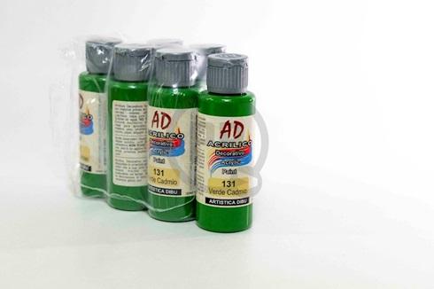 Acrílico decorativo Artística Dibu AD 60 ml 131-verde cadmio