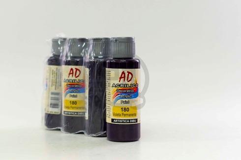 Acrílico decorativo Artística Dibu AD 60 ml 180-violeta permanente