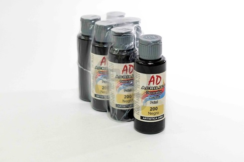 Acrílico decorativo Artística Dibu AD 60 ml 200-negro