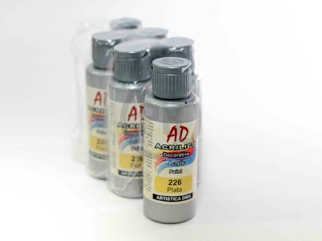 Acrílico decorativo Artística Dibu AD 60 ml 226-plata
