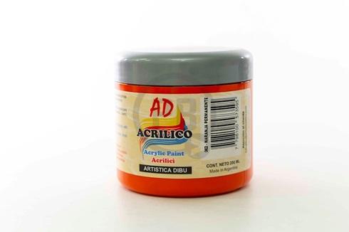 Acrílico decorativo 200 ml 062-naranja permanente