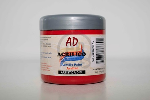 Acrílico decorativo 200 ml 066-bermellon