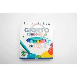 Marcador Giotto turbo maxi escolar x 20 colores