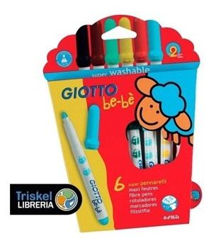 Marcador Giotto bebe x 6 colores