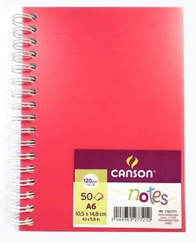 Block Canson artbook notes 50h A6 120 gramos rosa