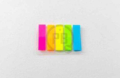 Banderitas plasticas adhesivas rectangular x 125 unidades