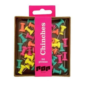 Caja chinches colores divertidos - Hefter pop